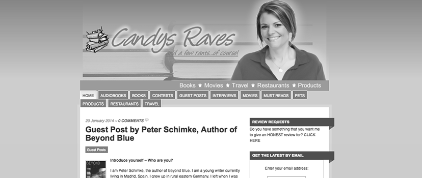Guest Post Peter Schimke Candys Raves